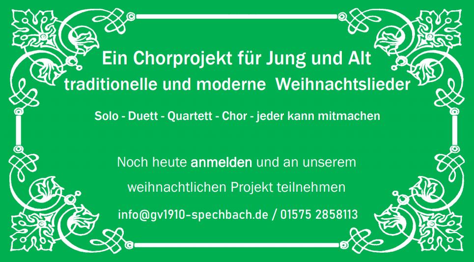 Chorprojekt - Weihnachten 2020